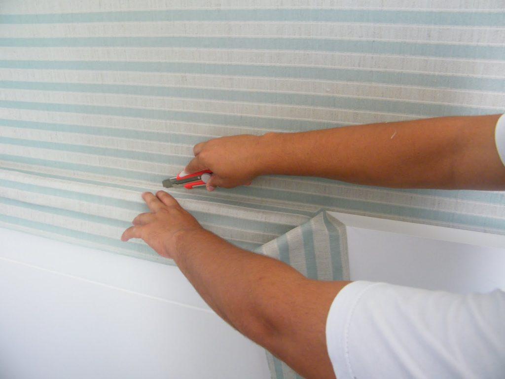 Aplicação de tecidos em parede